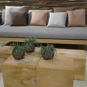 upholstery fabric / plain / polyester / polyurethane
