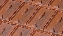 lozenge patterned roof tile