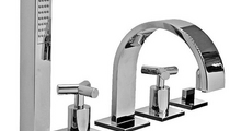 double handle bath-tub mixer