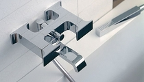 wall-mounted double handle mixer