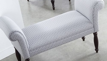 traditional upholstered bench