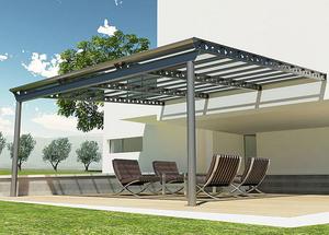Aluminum pergola - All architecture and design manufacturers - Videos