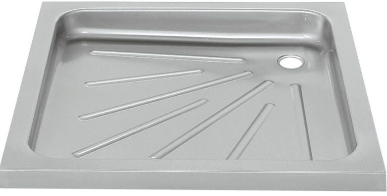 Gentil Square Shower Base / Stainless Steel / Non Slip   BS400