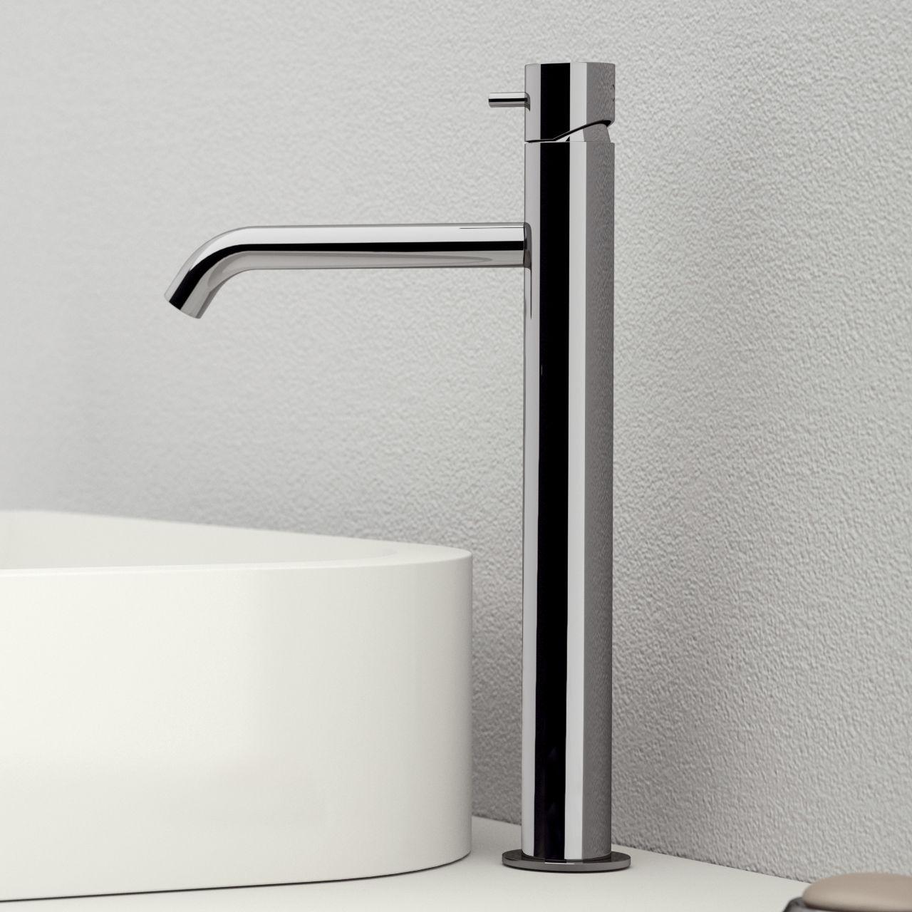 Washbasin mixer tap / chrome-plated brass / bathroom / 1-hole ...