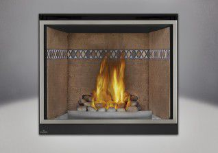 Gas fireplace / traditional / closed hearth / built-in - HDX40 ...