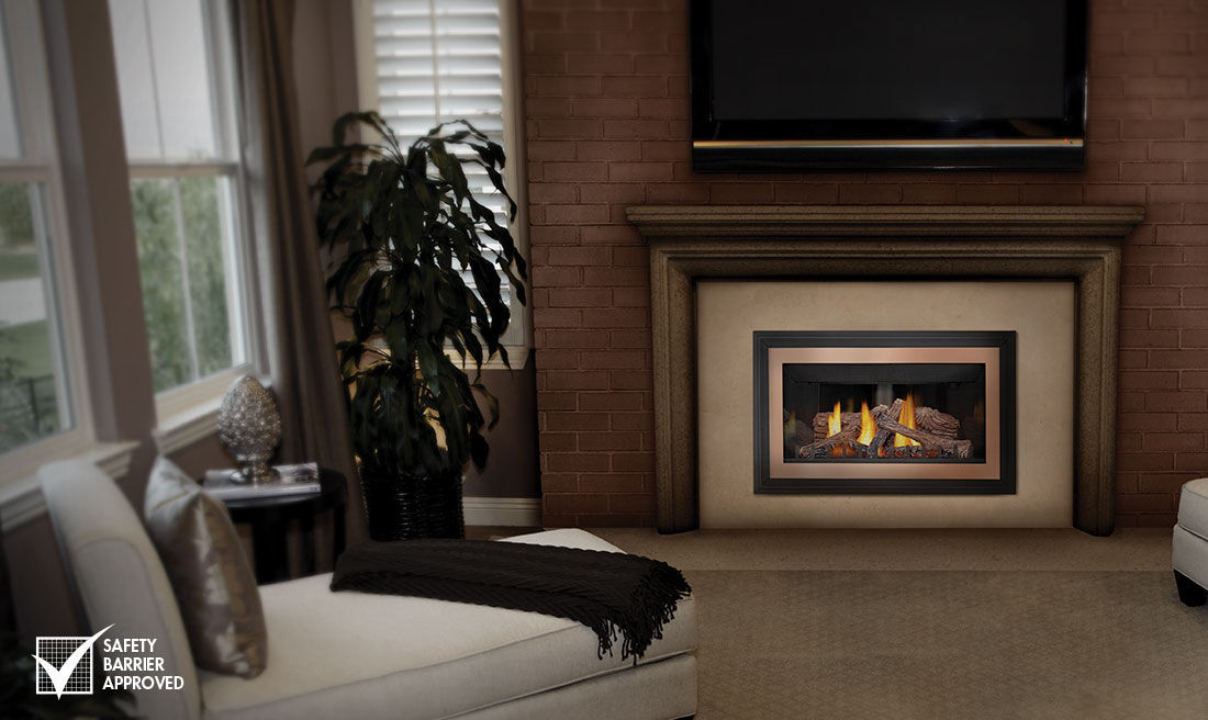 Gas Fireplace double sided gas fireplace insert : Gas fireplace insert / 1-sided - GDIZC - Napoleon Fireplaces