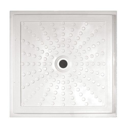 Square Shower Base / Fiberglass / Extra Flat / Flush   EASY: 15200