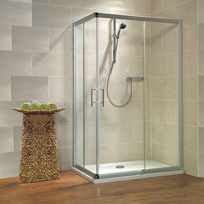 Jaquar Bathroom Partitions glass shower cubicle / corner / with sliding door - kristall trend