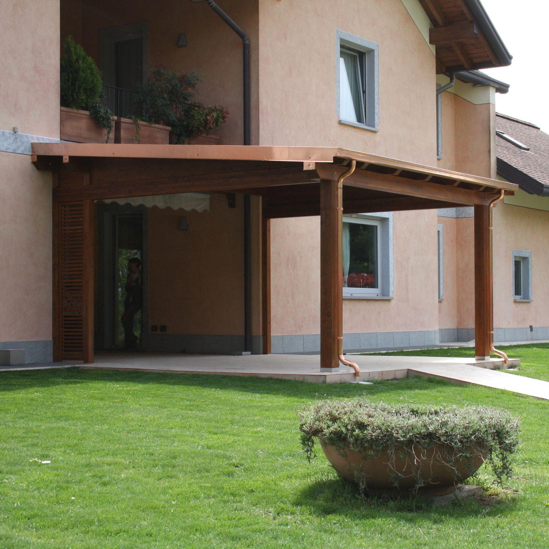 Wall-mounted pergola / wooden - PORTICO - Proverbio Outdoor Design