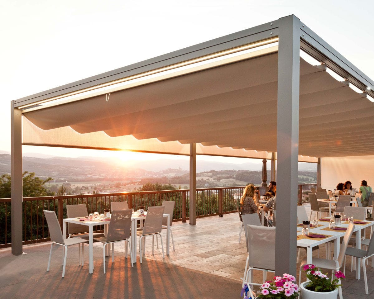 Superior ... Aluminum Gazebo / Fabric Roof Proverbio Outdoor Design ...