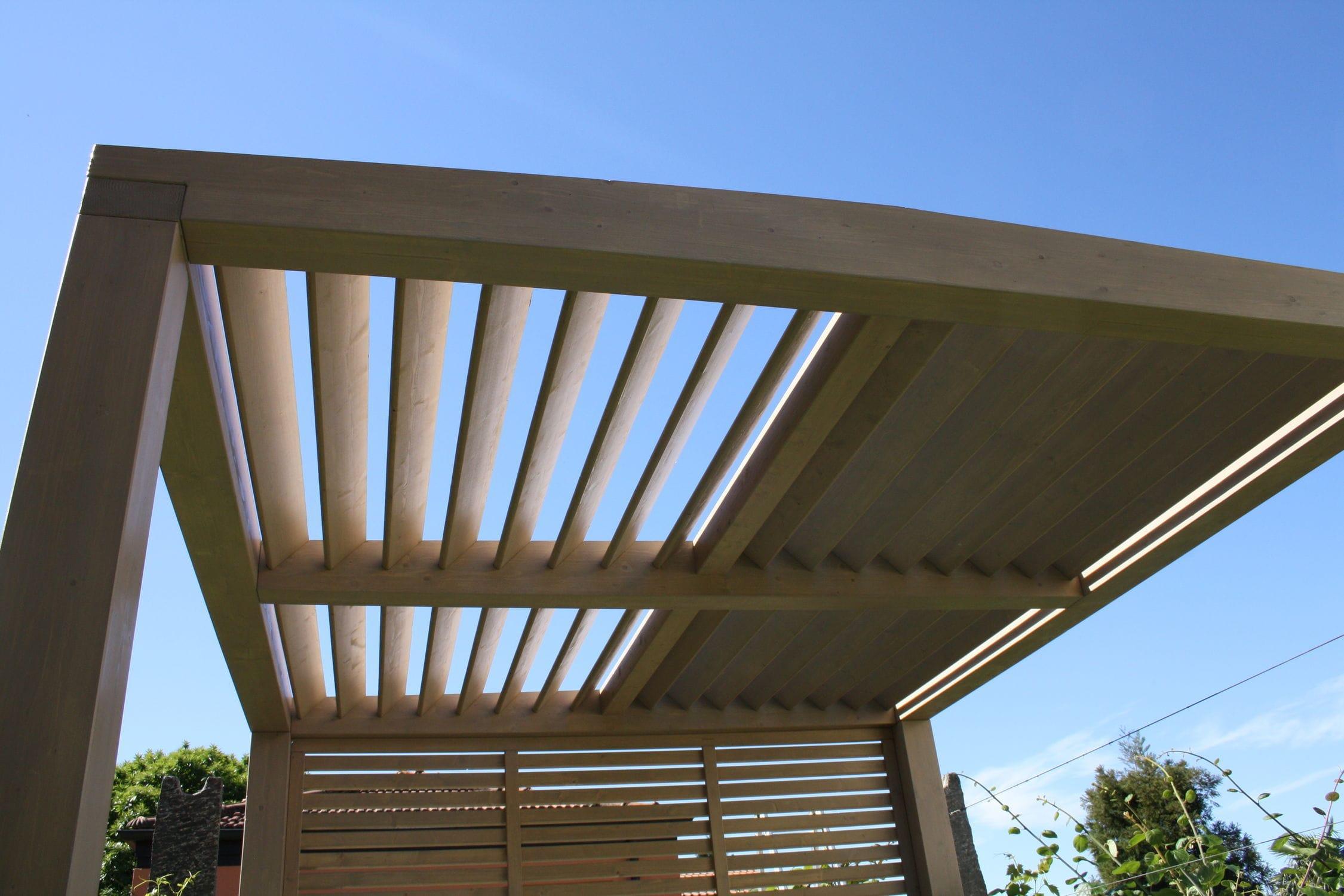 Wall Mounted Pergola Wooden Sun Shade Louvers Proverbio Outdoor Design