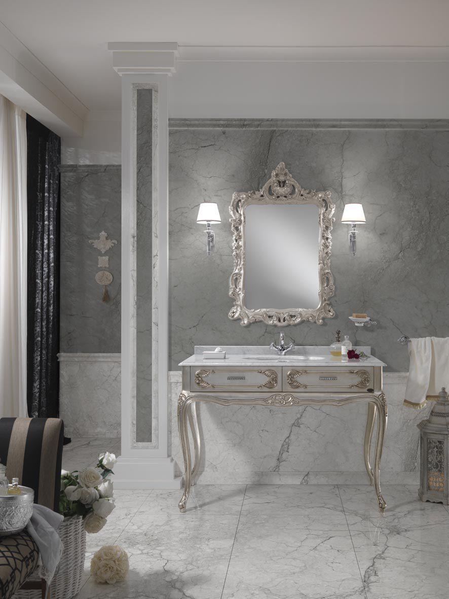 Good Baroque Style Bathroom / Solid Wood ...