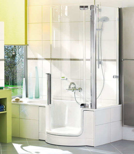 Built-in bathtub-shower combination / other shapes / composite ...