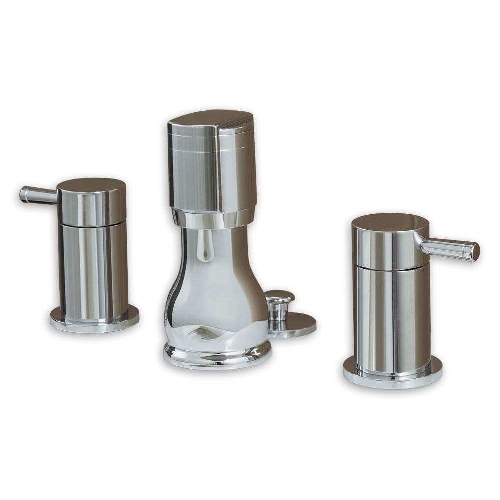 Double-handle bidet mixer tap / free-standing / stainless steel ...