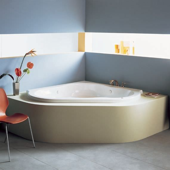 Corner bathtub / acrylic / whirlpool - CADENZA - AMERICAN STANDARDS