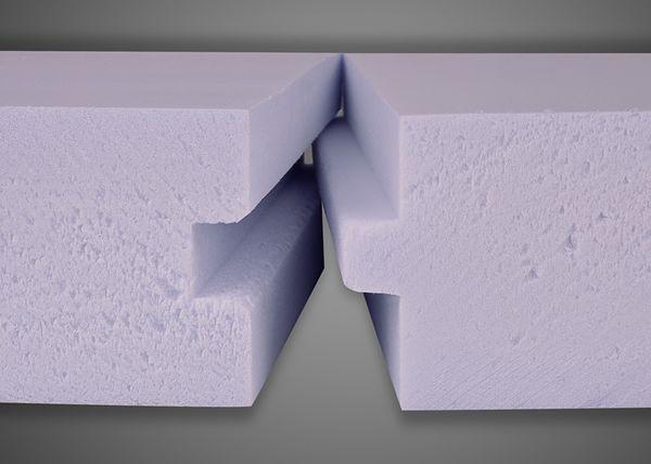 Паз и шип для соединения двух листов экструдированного пенополистирола