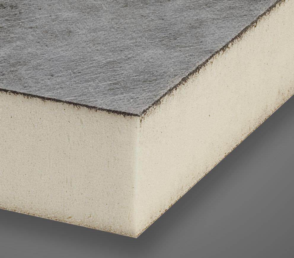 Thermal Insulation / Polyisocyanurate (PIR) Foam / For Flat Roofs / Rigid  Panel   POLIISO SB