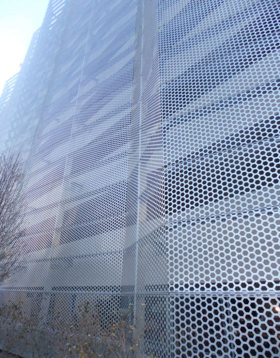 perforated sheet metal expanded aluminum facade hendrick
