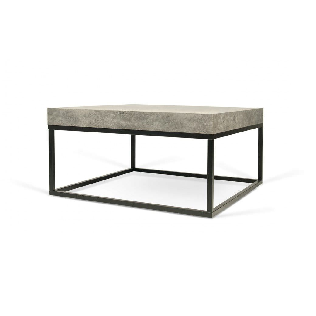 Contemporary Coffee Table Concrete Melamine Square Petra 75
