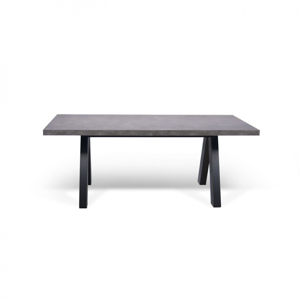 Concrete Top Dining Tables Dining Table Contemporary Concrete Oak Apex By Dclio
