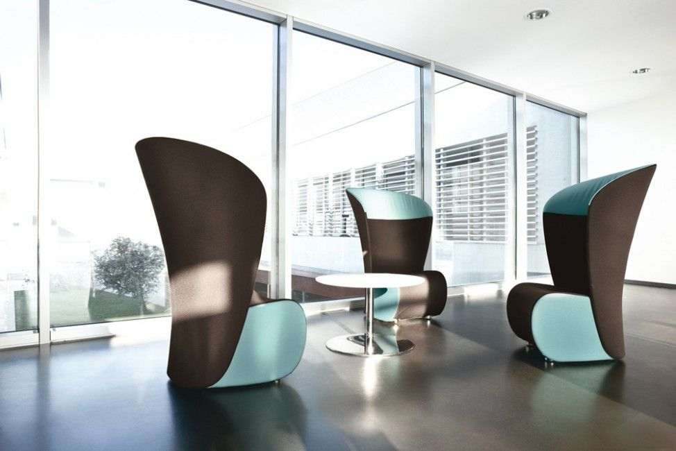 Contemporary Visitor Armchair / Textile / High Back / High Back ...