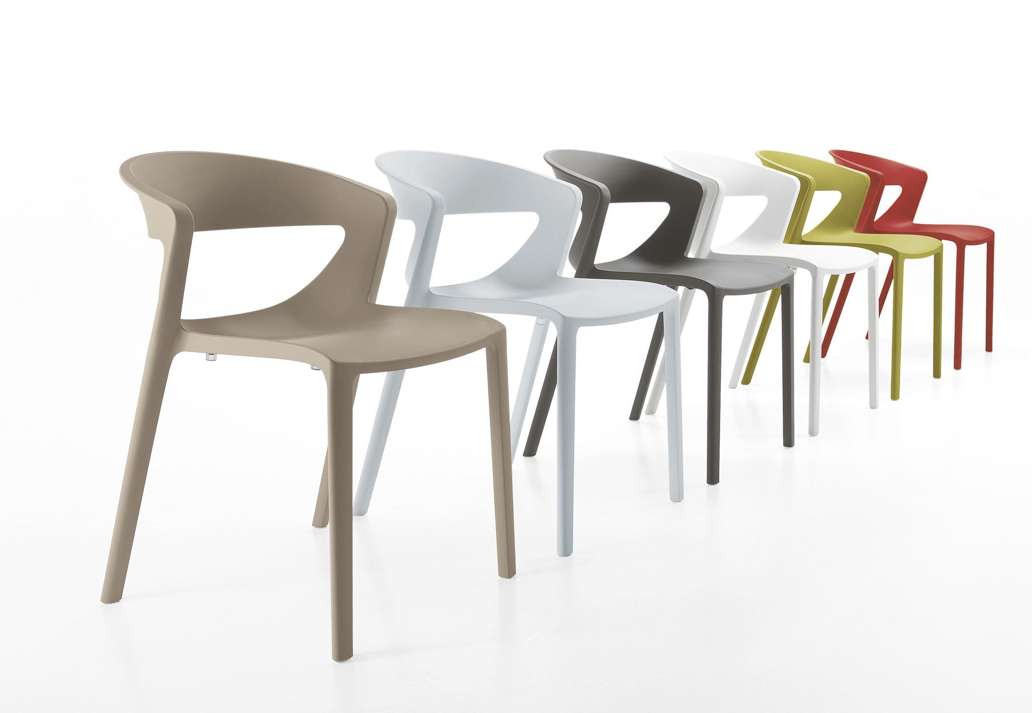 Contemporary chair stackable polypropylene commercial kicca one kastel srl