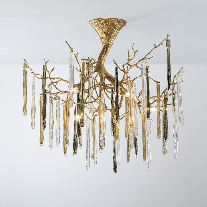 Traditional Ceiling Light Gl Bronze Halogen Glamour Ct3269 8