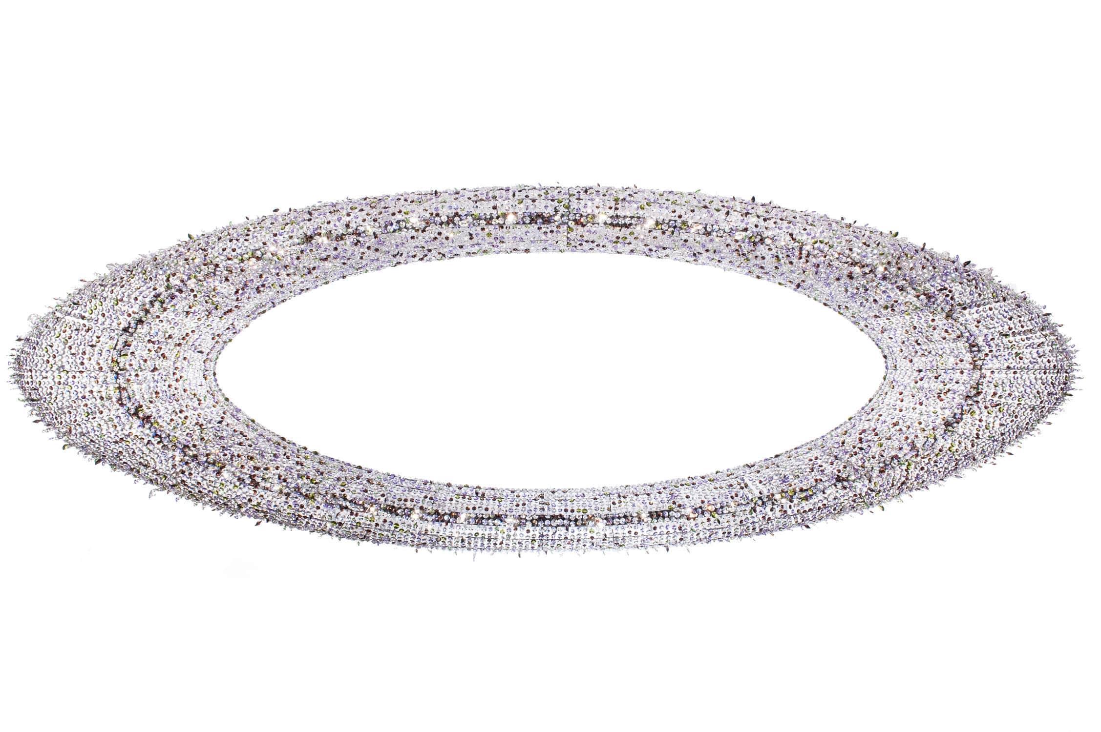 Contemporary chandelier crystal handmade ATOLL Manooi