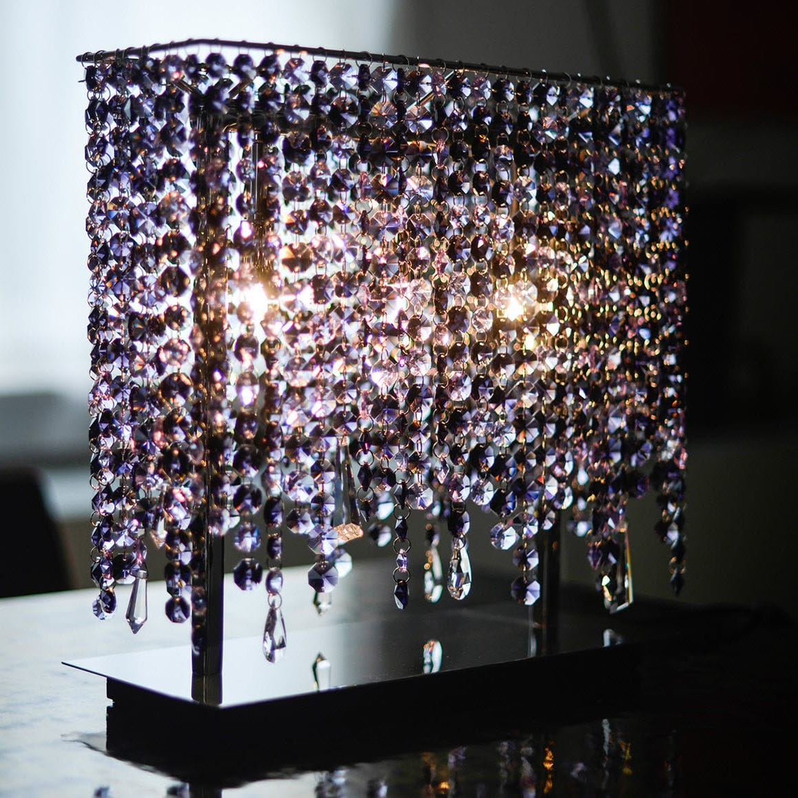Table lamp contemporary crystal handmade linea t manooi table lamp contemporary crystal handmade linea t mozeypictures Images