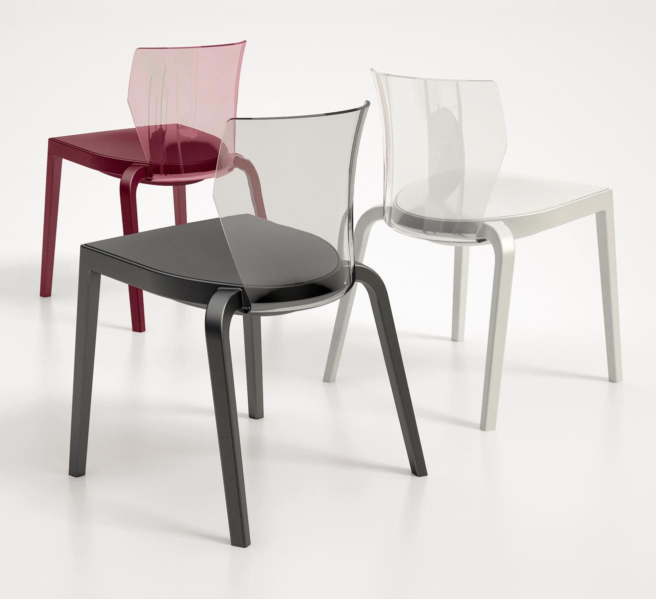 Contemporary fabric chairs -  Contemporary Chair Upholstered Stackable Fabric Bi Infiniti