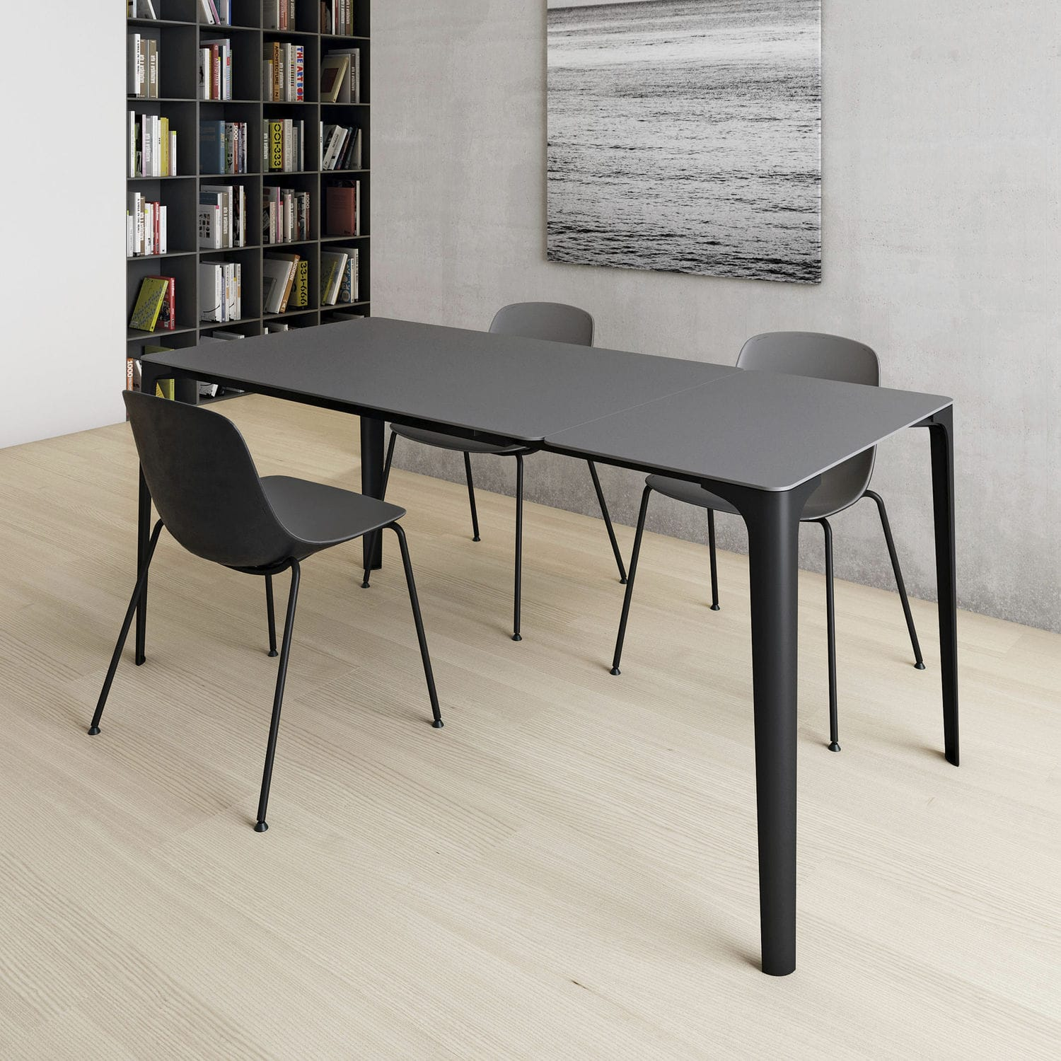 Contemporary Table / Glass / Oak / Painted Wood   MAT By Piervittorio  Prevedello