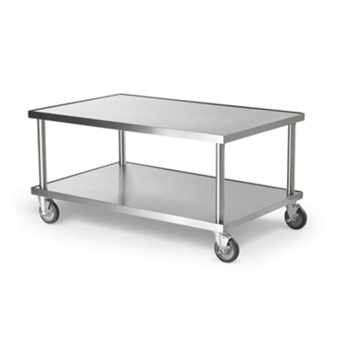 Lovely Stainless Steel Prep Table / On Casters   4087924