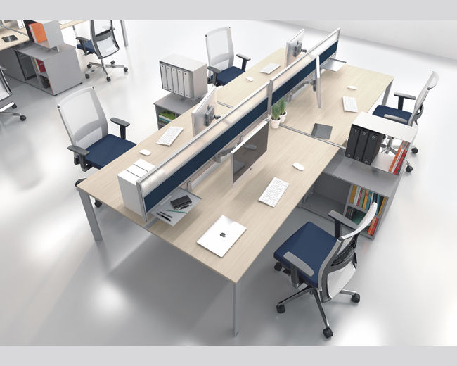 Fabuleux Workstation desk / walnut / maple / wenge - ESSENTIAL - UFFICIO  FI34