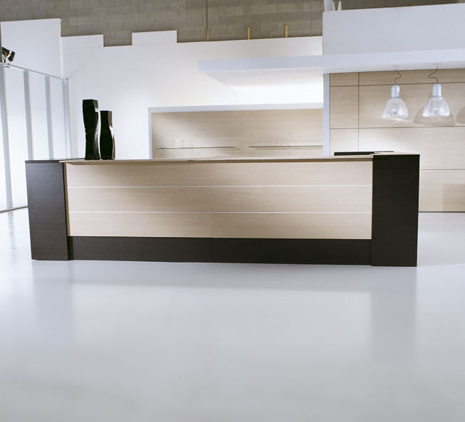 wooden reception desk elitable