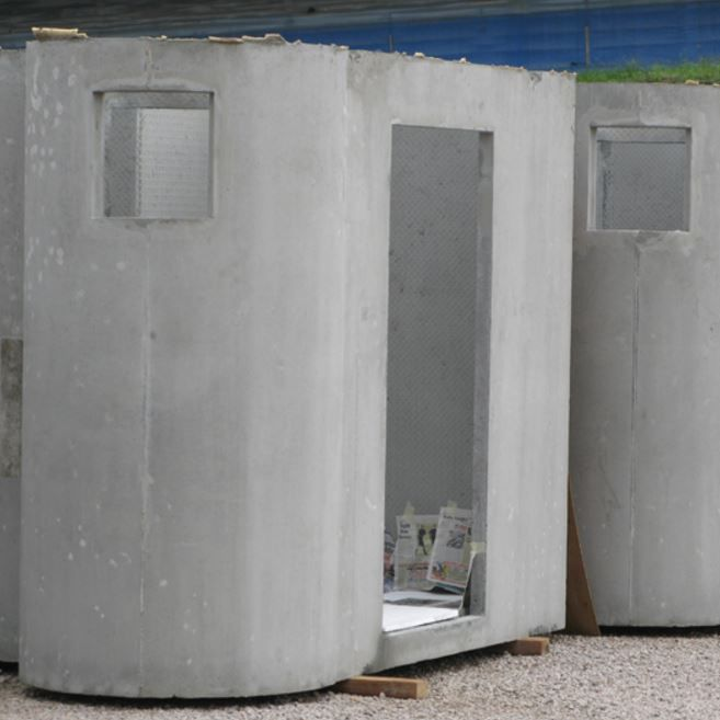 Public E Toilet Cabin Reinforced Concrete Bathroom Unit