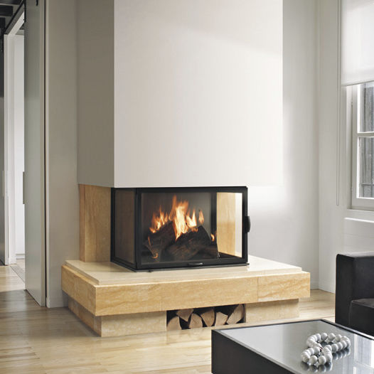 Contemporary Fireplace Surround Stone 3 Sided ArpÈge 2
