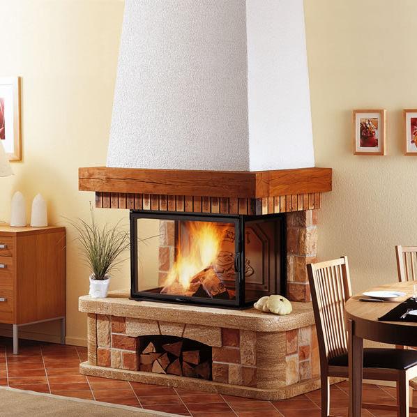 Traditional Fireplace Surround Stone Oak 3 Sided Strathos