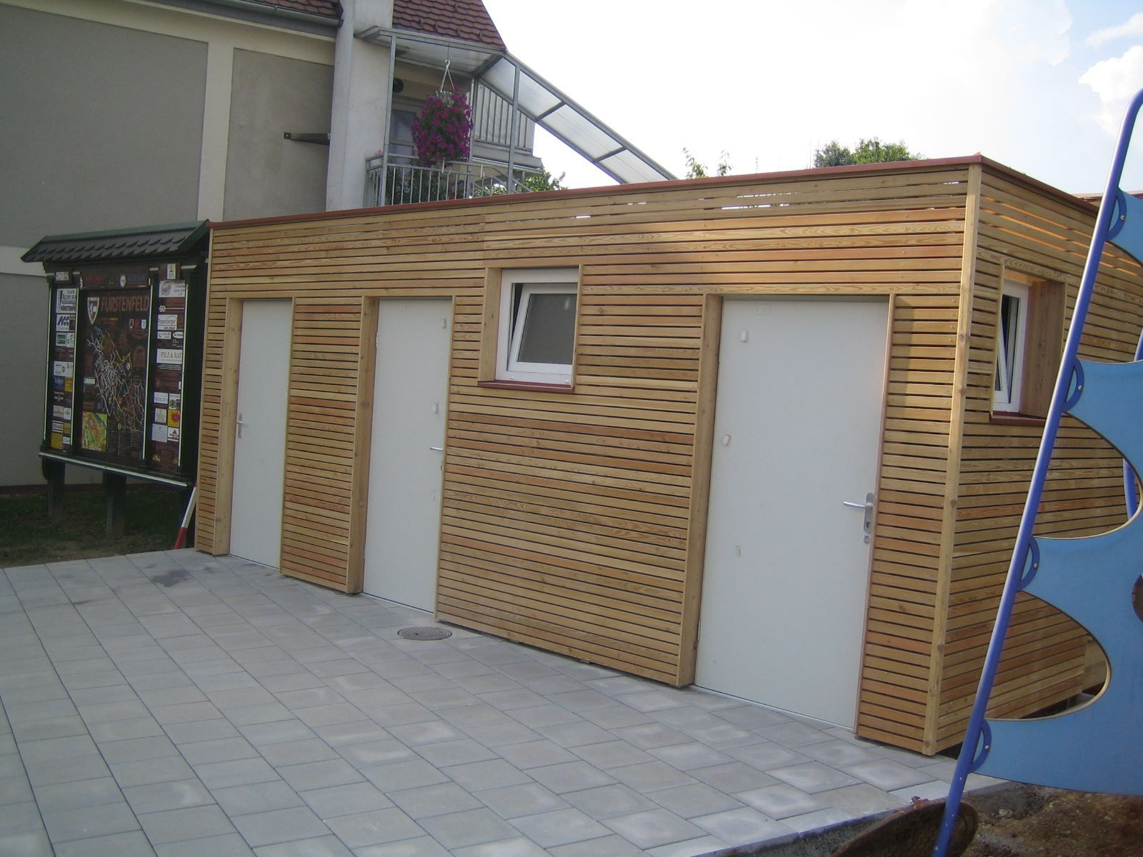 Public Space Toilet Cubicle / Metal / Wooden FUERSTENFELD Containex ...