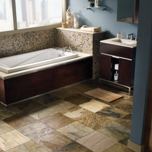 Indoor tile / kitchen / floor / natural stone - SLATE COLLECTION ...