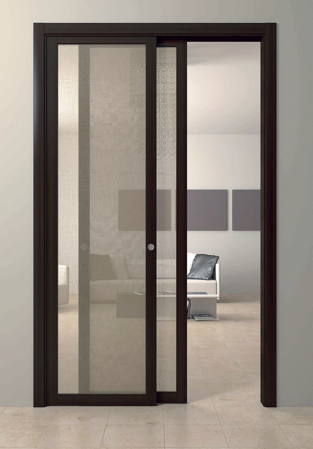 Indoor door / sliding / wooden / double-leaf - ELENA - FBP PORTE