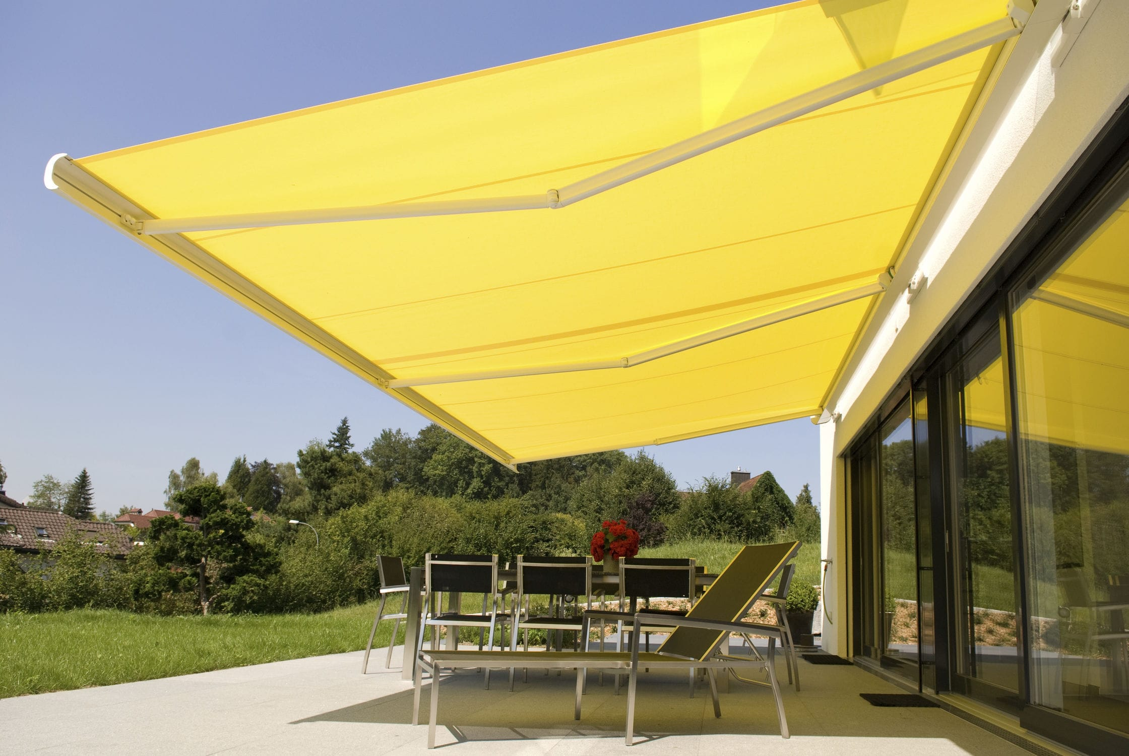residential awning folding retractable lateral arm pin awnings