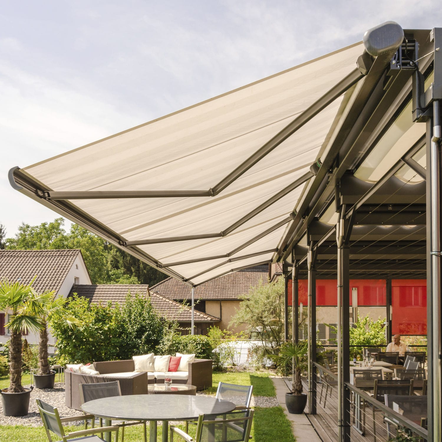 folding retractableawnings awning fabric arm color palermo retractable solid lateral frame plus com white awnings the products