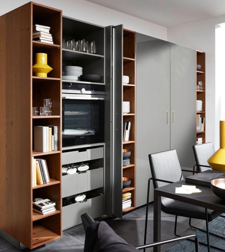 Contemporary Storage Cabinet For Kitchen / Lacquered Wood   NOVA LACK