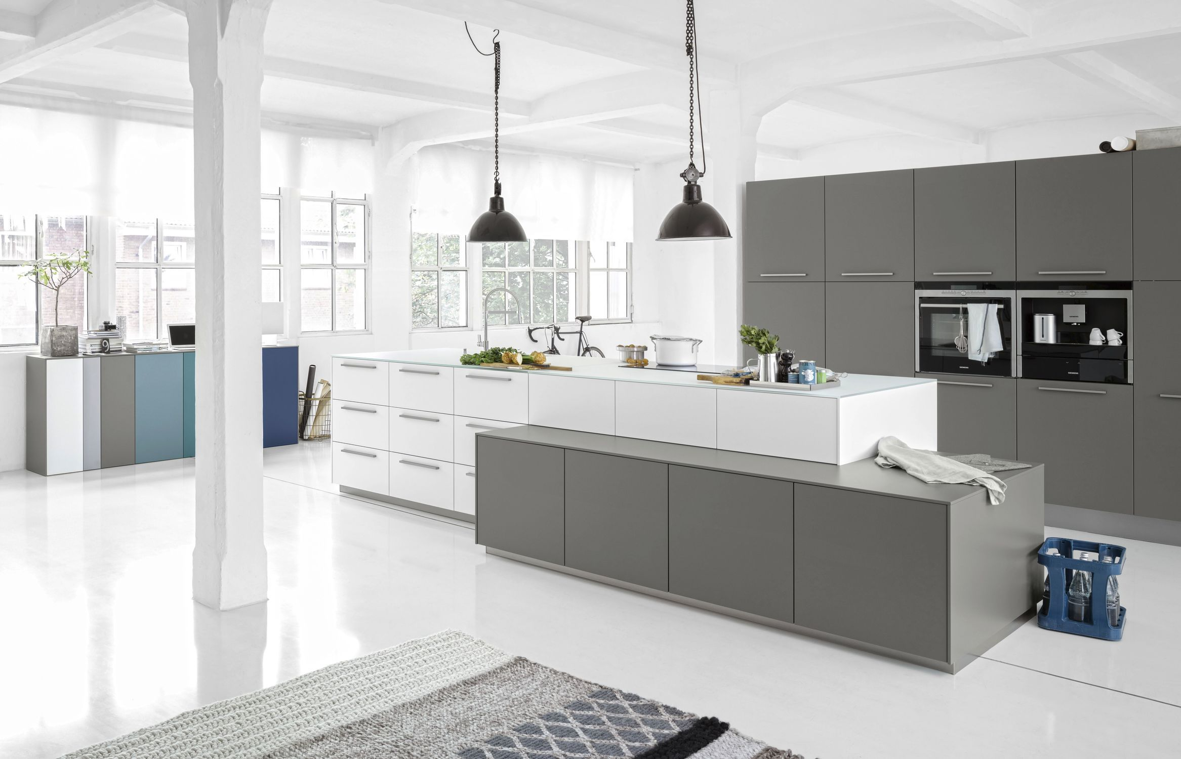 Hervorragend Contemporary Kitchen / Lacquered Wood / Glass / Island