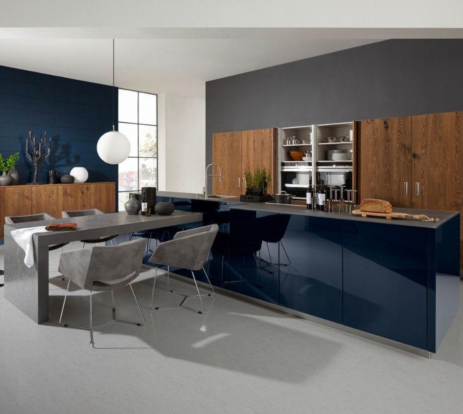Contemporary Kitchen / Oak / Lacquered Wood / Island   LEGNO/NOVA LACK
