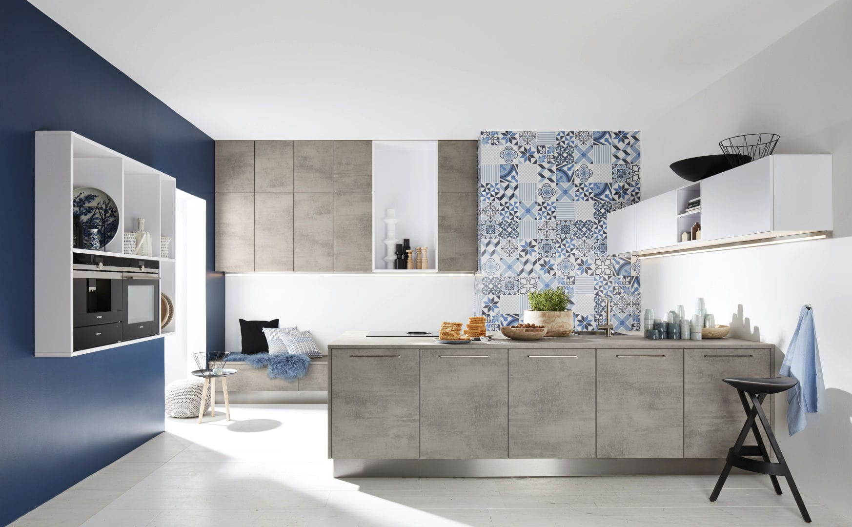 Contemporary kitchen / laminate / melamine / island - STONE CONCRETE ...