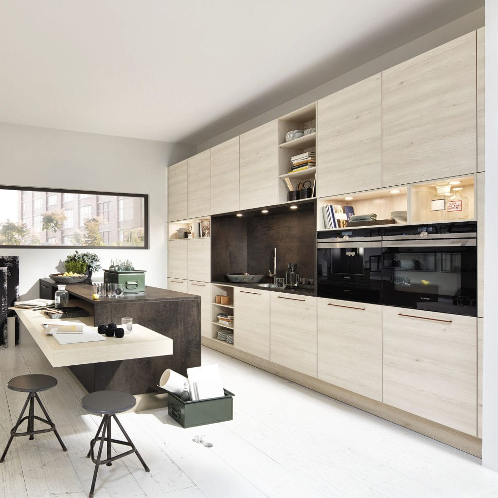 Nice Contemporary Kitchen / Melamine / Island   STONE COPPER OXID/ MANHATTAN  KIRUNA