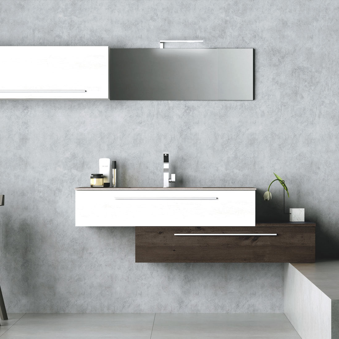 Wall hung washbasin cabinet laminate contemporary with wall hung washbasin cabinet laminate contemporary with illuminated mirror composition po2 dailygadgetfo Choice Image
