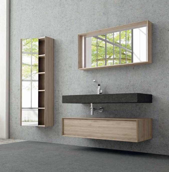 Bathroom base cabinet / wall-mounted - HOUSE 111 - PUNTOTRE Srl