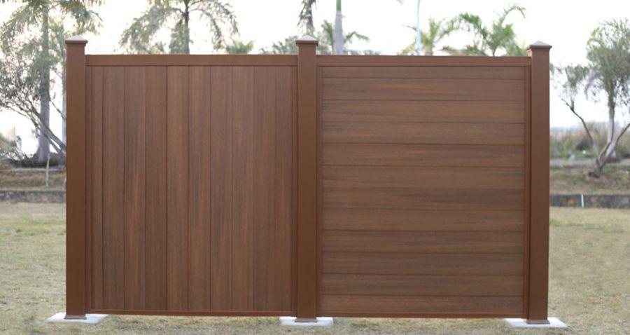 garden fence with panels wpc ultrashield newtechwood